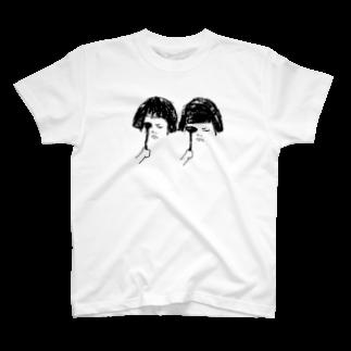 YuLink.( ユリンク )のおかっぱ女子の視力検査 T-shirts