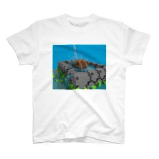 ピクセルカピバラ T-shirts