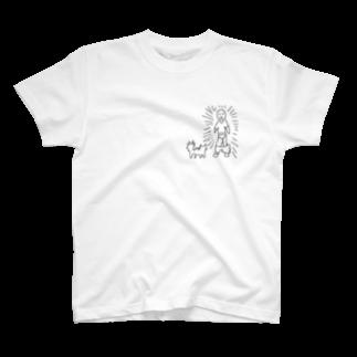 NIKKEの愛猫に威嚇される人 T-shirts