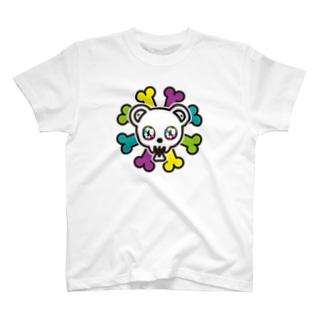 きら目のクマのホネちゃん T-shirts