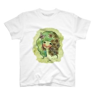 花と少女 T-shirts