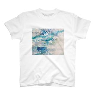 夜の雨と湿地帯 T-shirts