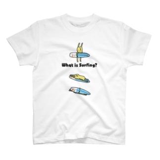 サーフィン ウサギとサーフボード T-shirts