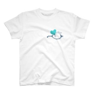 ハートキャッチ  あお T-shirts