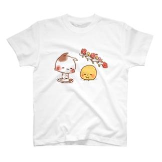 ほのぼのねこさんとぴよみさん T-shirts
