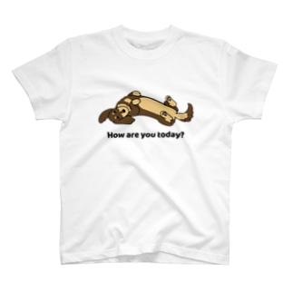 ダックス2チョコタン T-shirts