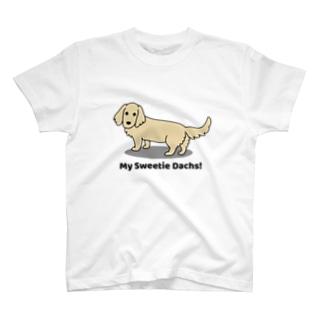 ダックスイエロー(両面) T-shirts