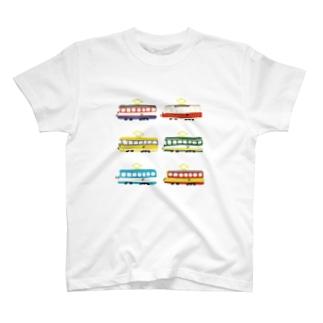 路面電車に乗ってどこまでも T-shirts