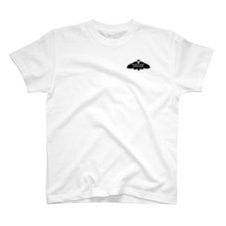 クロメンガタスズメガ【バックプリント】 T-shirts