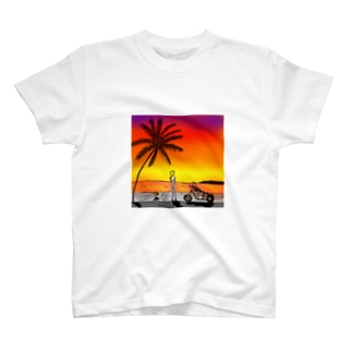 on the beach 2 T-shirts