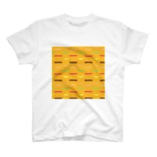 ハンバーガー柄 T-shirts