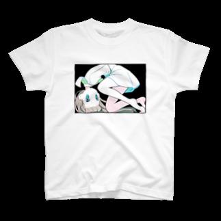 のびのびの長方形と女の子 T-shirts
