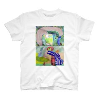 植物と人物 T-shirts