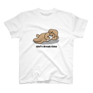トイプー アプリコット系(両面) T-shirts