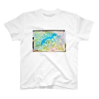 壁らくがき 07-きみどりと空 T-shirts