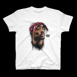 TFuckのHIPHOP 2pac T-shirts