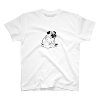 しわしわのパグ T-shirts