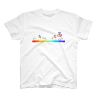 混色フラワー(ペイント) T-shirts