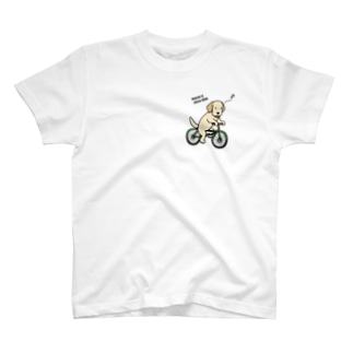 bicycleラブ イエロー(両面2) T-shirts