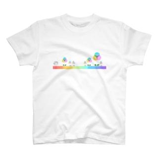 混色フラワー(プリント) T-Shirt