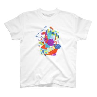 composition:テリジノサウルス T-shirts