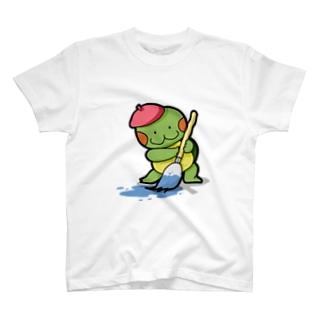 お絵描きかめ吉 T-shirts