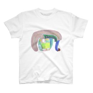 (front)ぐんぐんどーう(back)とまる T-shirts