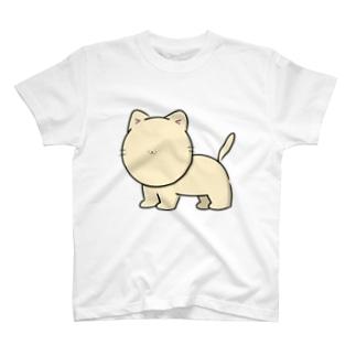 かおのパーツがちいさいネコTシャツ T-shirts
