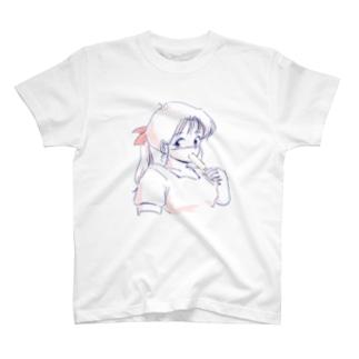 アイスクリームほおばる子(しんぷる) T-shirts