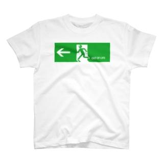 EXIT OF LIFE あの世の入り口 T-shirts
