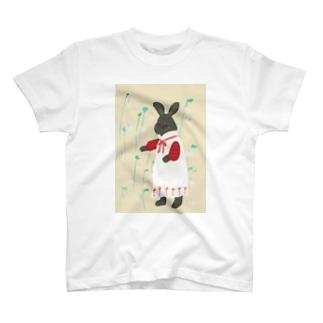 うさぎとウサギゴケ T-shirts