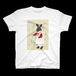 木登り堂のうさぎとウサギゴケ T-shirts