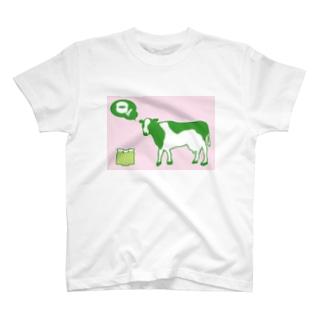 Cow MATCHA GREEN TEA backcolor T-shirts