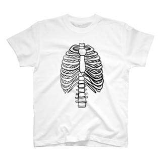肋骨と脊椎と胸骨 T-shirts