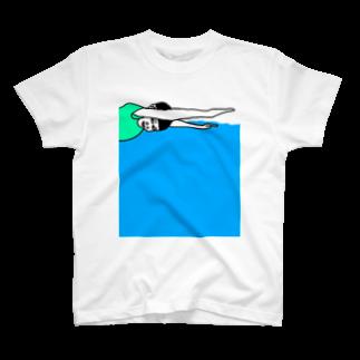Kenpoppunkの泳ぐ T-shirts