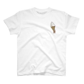 シャリとソフトクリーム T-shirts