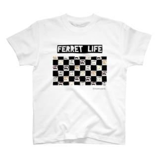 市松フェレット T-shirts