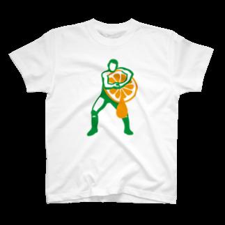 LUCHAのヘッドロックみかん搾り T-shirts