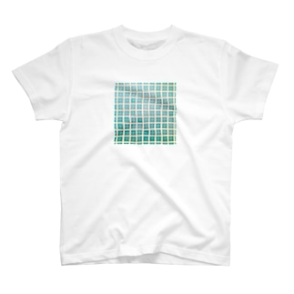 blue tile T-shirts