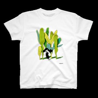 ふわんちゃんの葉っぱ T-shirts