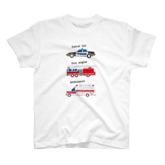 アメリカの緊急車両っぽいイラスト T-shirts