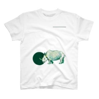 シロサイのホネ T-shirts