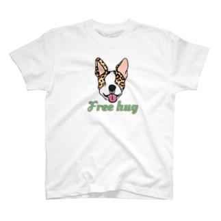 豹柄ボストンテリア T-shirts