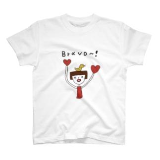 鳥と女の子 T-shirts