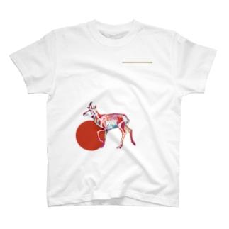 プロングホーンのホネ T-shirts