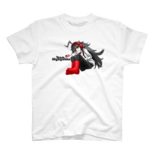 チームひややっこキャラ「まめ氏」with黒ロゴ T-shirts