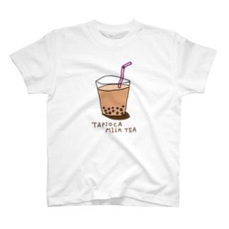 タピオカミルクティー。 T-shirts