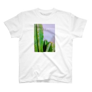 GREEN & good times T-shirts