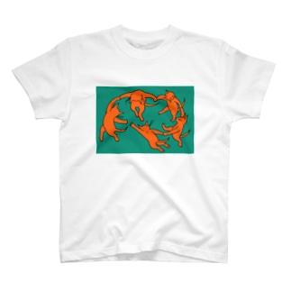 ネコのダンス T-shirts