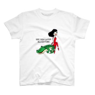 SEE YOU LATER ALLIGATOR チヨミとワニ T-shirts